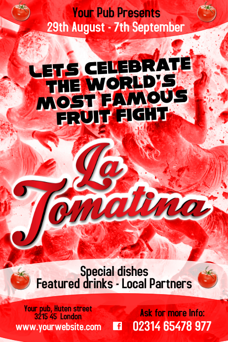 La Tomatina Flyer Template