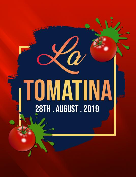 La Tomatina Flyers, la tomatina event