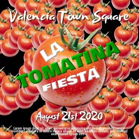 La Tomatina Instagram Video Template