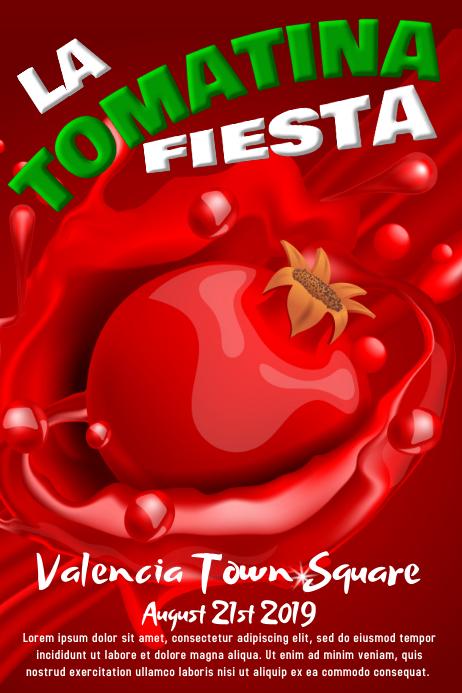 La Tomatina Poster Template