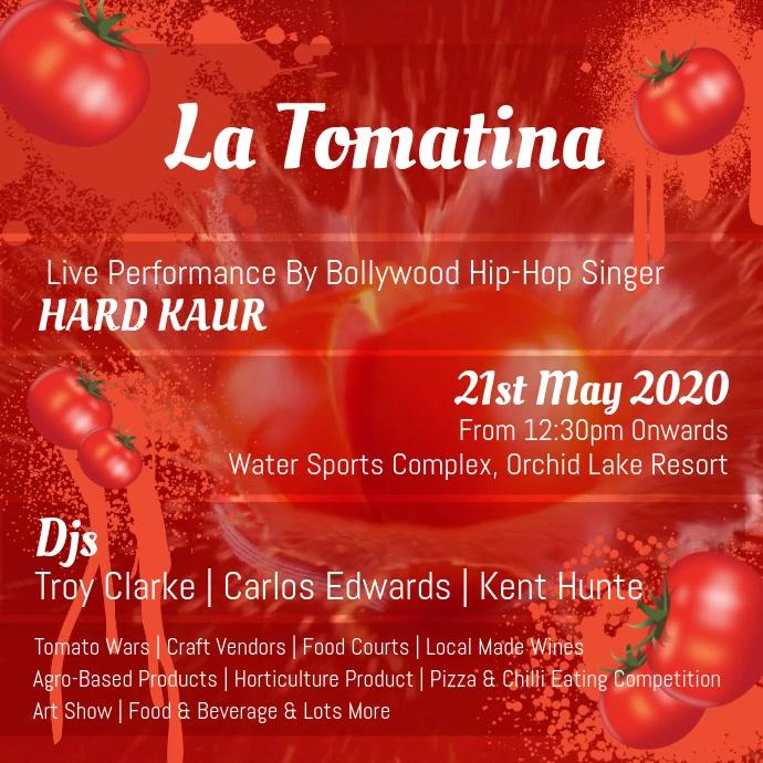 La Tomatina Tomato Square Video