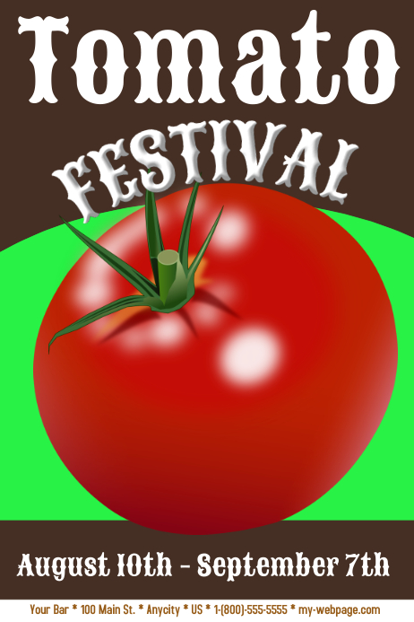 the tomato festival template postermywall