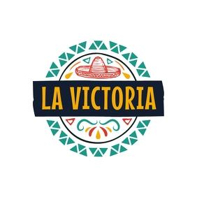 La Victoria Hispanic Logo Logotipo template
