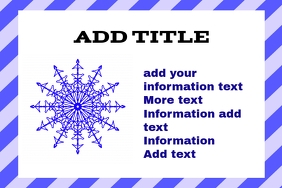 label attention sign for snow cold freezing t