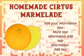 label - citrus marmelade or jam
