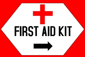 Label - First AID Kit arrow right
