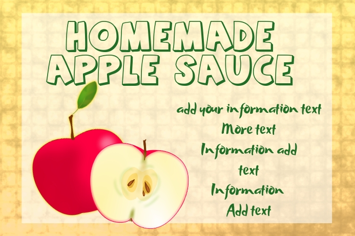Label For Apple Sauce Vinegar Or Cider Template Postermywall