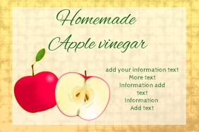 label for apple vinegar sauce or cider