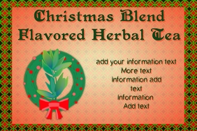 label for christmas blend herbal tea mix