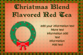 label for christmas blend red tea mix