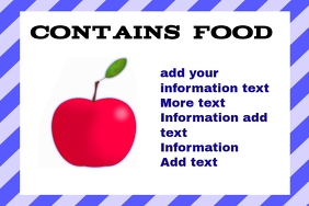 label for food & drink - apple - consumables