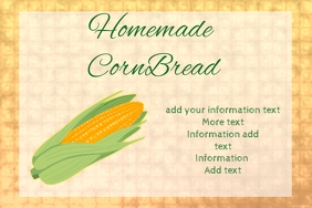 label for homemade cornbread corn product