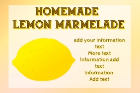 Label for homemade lemon marmelade