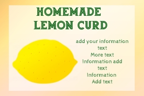 label for lemon curd or other product