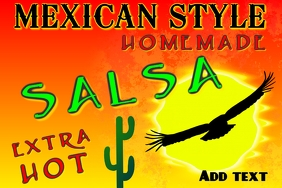 label for mexican salsa or other product