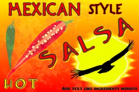 label for mexican style salsa or other produc