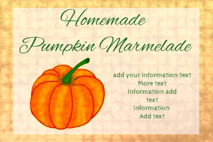label for pumpkin marmelade
