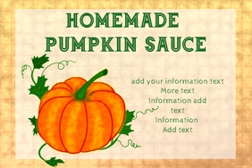 label for pumpkin sauce or other product