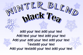 label for winter blend product tea
