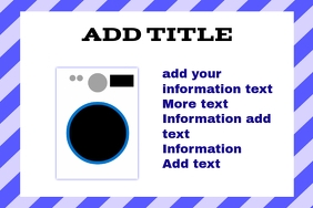 washing machine - label template
