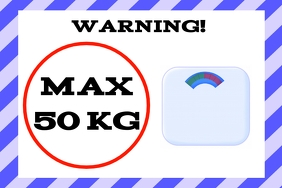 max weight label template