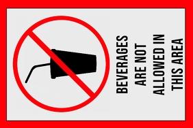 label - no beverages - sign - prohibition