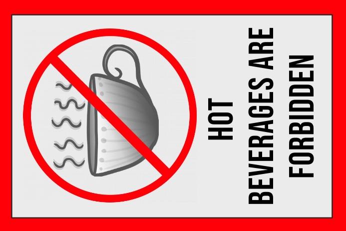 label - no hot beverages