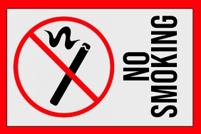 label template - no smoking