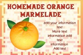 label template - orange marmelade or jam