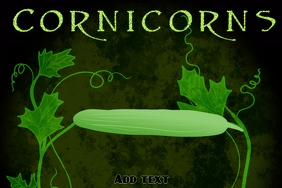 Label template , cornicorns canned cucumber