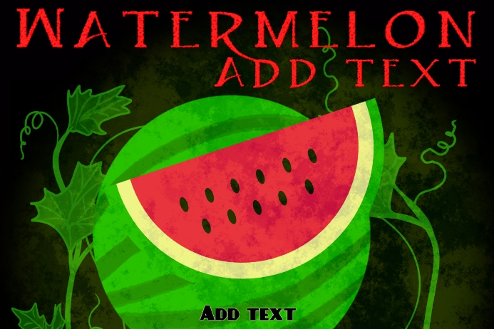 Label template , watermelon in jar product