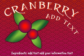 Label template - cranberry Vaccinium macrocar