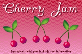 Label template for homemade cherry jam