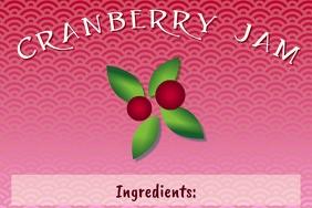 Label template for homemade cranberry jam