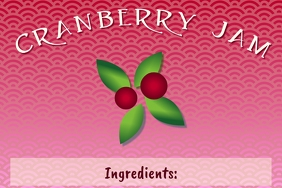 Label template for homemade cranberry jam