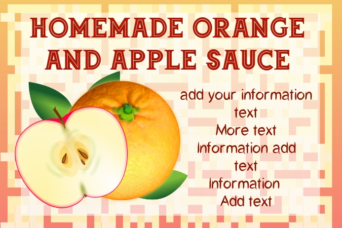 label template - orange and apple sauce