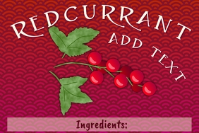 Label template - Ribes rubrum red currant red