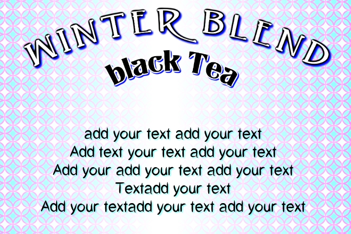 label with - winter blend mix of black tea