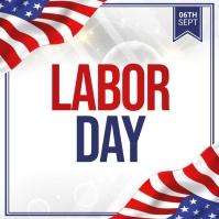 labor day, usa labor labor day สี่เหลี่ยมจัตุรัส (1:1) template