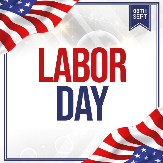 labor day, usa labor labor day Isikwele (1:1) template