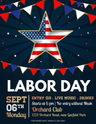 labor day, usa labor labor day Рекламная листовка (US Letter) template