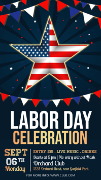 labor day, usa labor labor day Instagram Story template