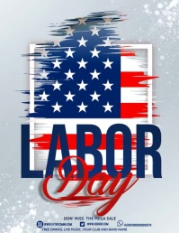 Labor day,Veteran's day,memorial day Folheto (US Letter) template