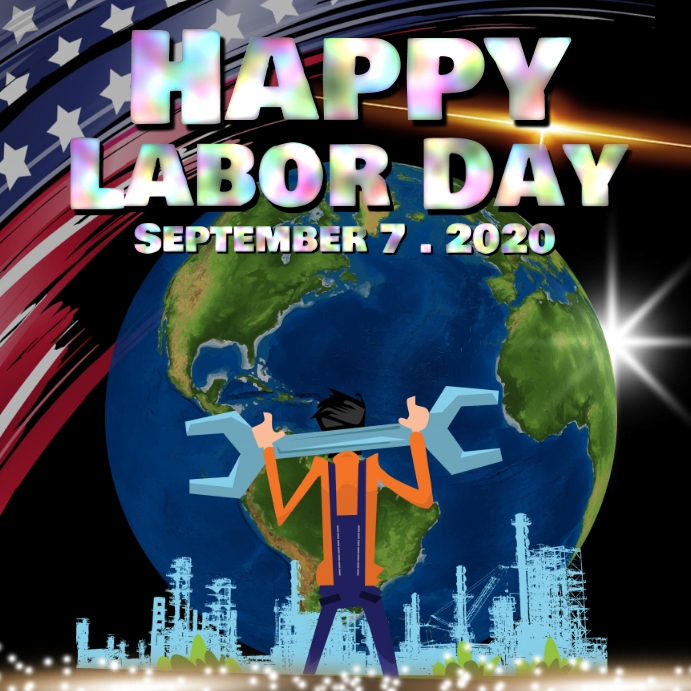 Labor day 2020 Vierkant (1:1) template