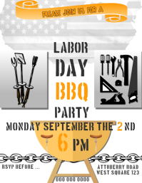 LABOR DAY BARBECUE AD \INVITATION/FLYER /POST