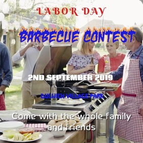 Labor Day Barbecue Event Template
