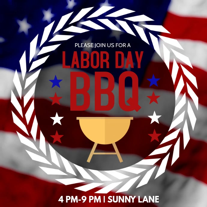labor day barbecue invite template postermywall