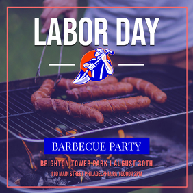 Labor Day Barbecue Party Instagram Post Template