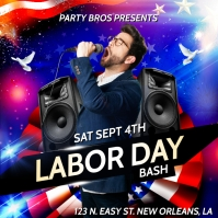 LABOR DAY BASH 2021 FLYER TEMPLATE Album Cover