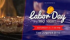 Labor Day BBQ Invitation Facebook Cover Video